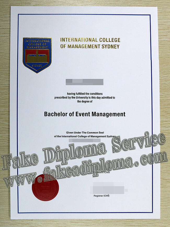 International College of Management Sydney Fake Diploma