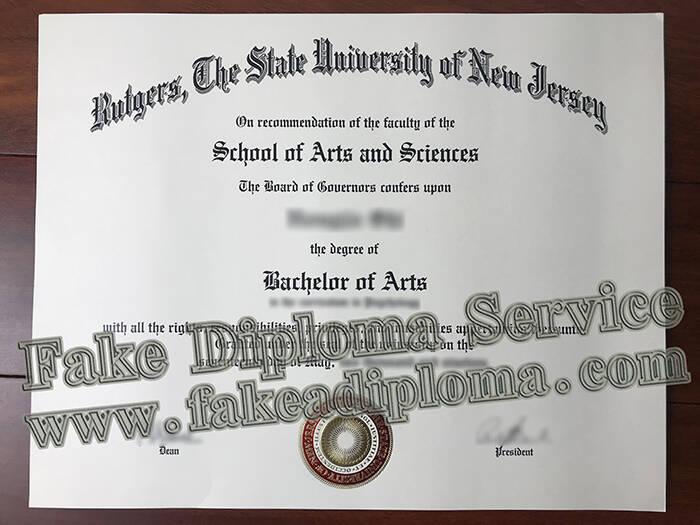 buy Fake Rutgers Diploma