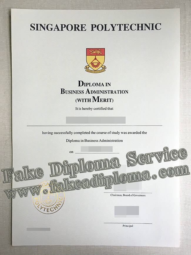 Fake Singapore Polytechnic Diploma