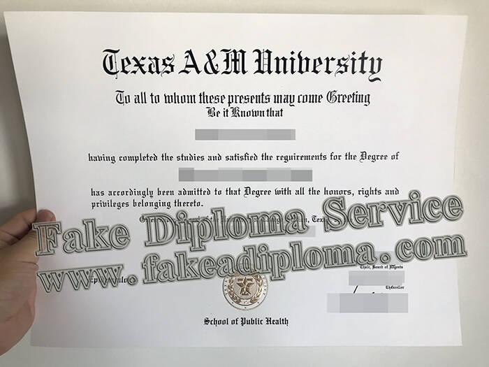 Fake Texas A&M University Diploma