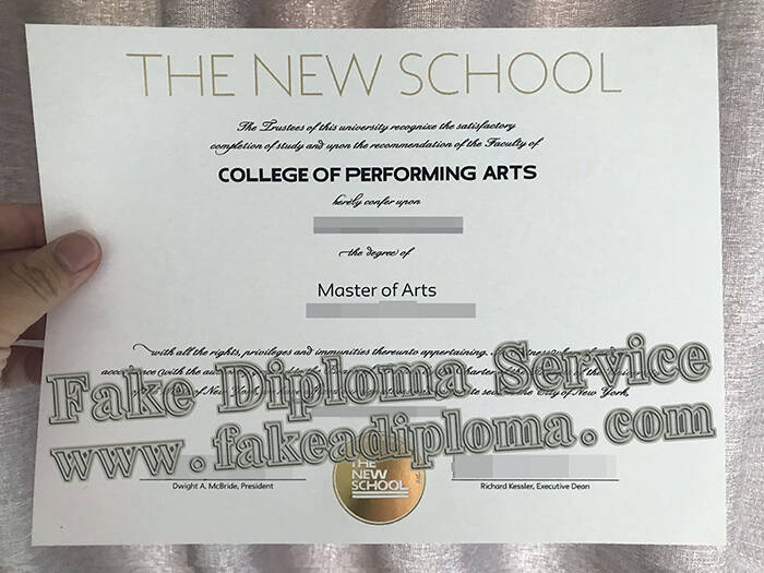 The New School Fake Diploma
