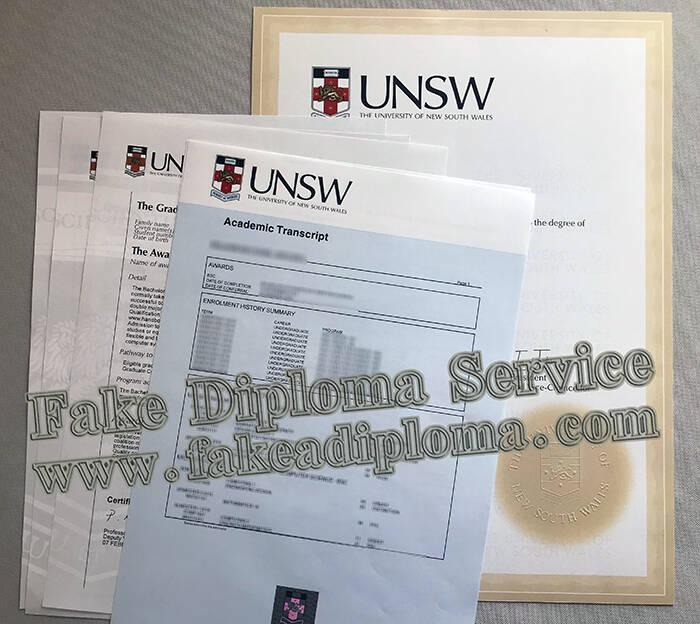 Printing The University of New South Wales Fake Diplomas