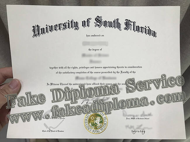 fake University of South Florida Diploma