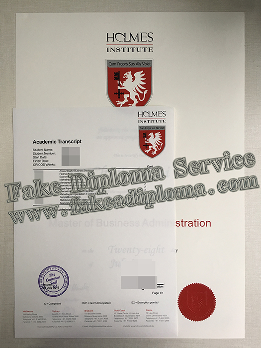 Fake Holmes Institute Diploma And Transcript