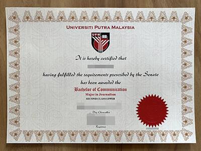 Running A Fake Universiti Putra Malaysia Diploma Certificate