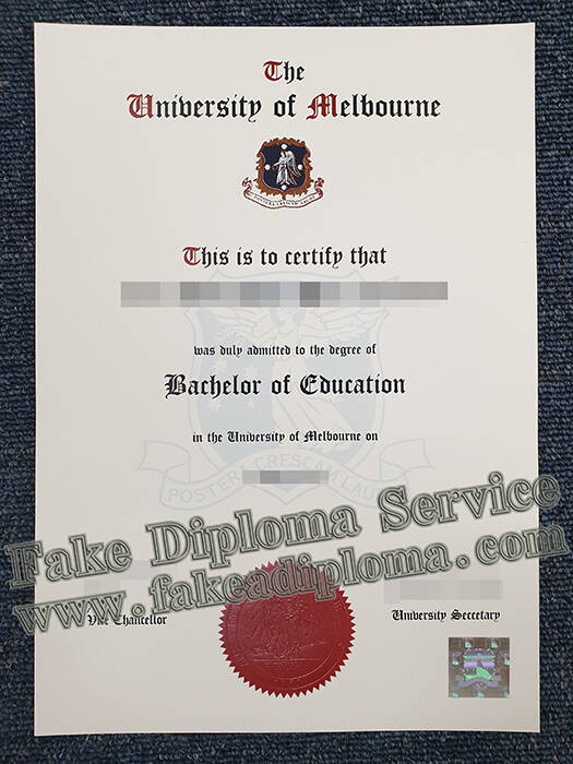 Fake Melbourne U Degree