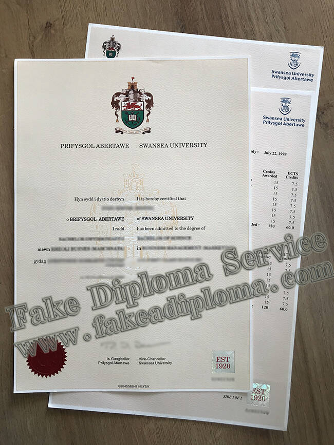 Fake Swansea University Degree Certificate