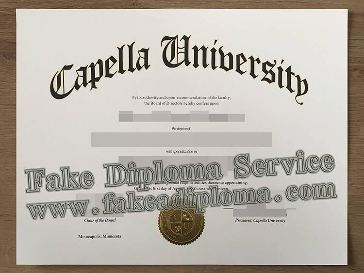 fake Capella University degree certificate