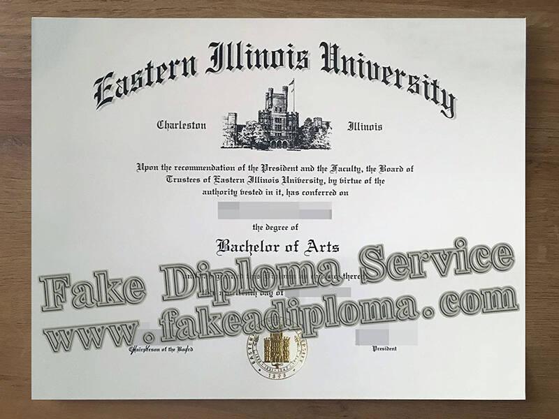 Eastern Illinois University Fake Degree certificate