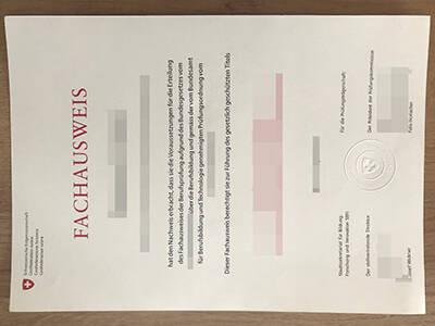 Copy A Fake Fachausweis Certificate Online, Printing A Fachausweis Fake Diploma Certificate