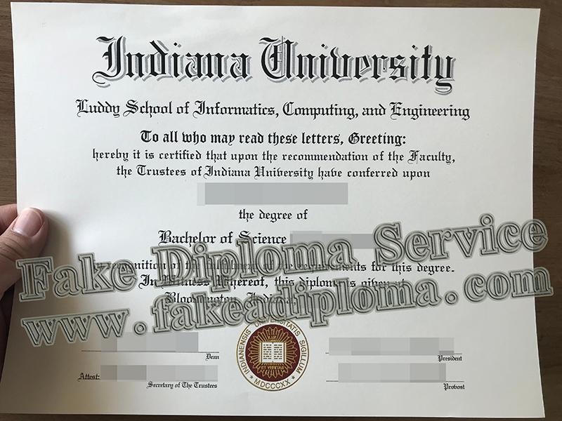 Fake Indiana University Diploma