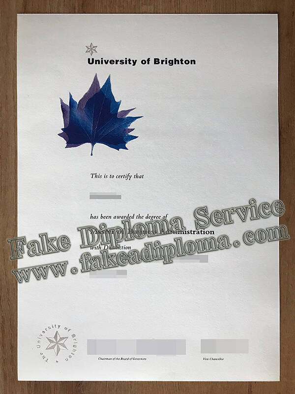 Running A Fake University of Brighton Degree Certificate Online