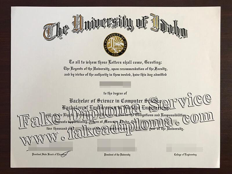 Coyp University of Idaho Fake Degree And Fake Transcript