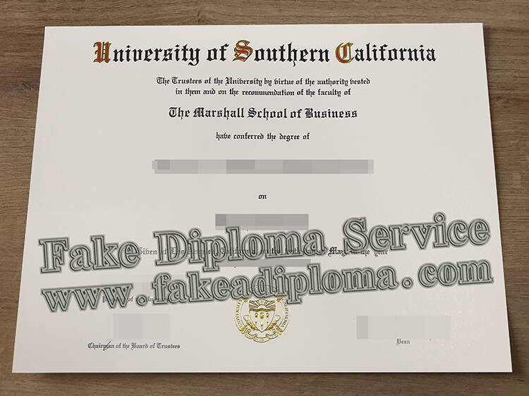 How much for a Fake University Of Southern California Diploma