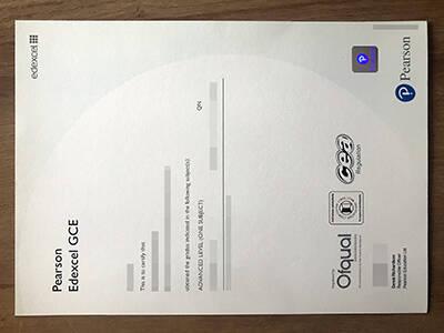 Order a Fake GCE Certificate, Copy Fake Pearson Edexcel GCE Certificate