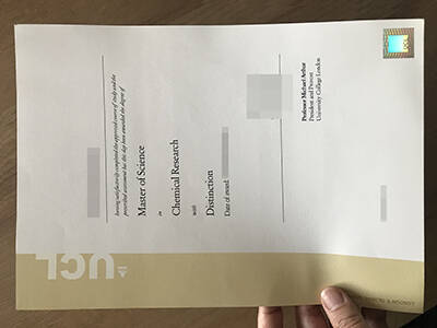 Printing A Fake University College London Degree, Copy Fake UCL Diploma
