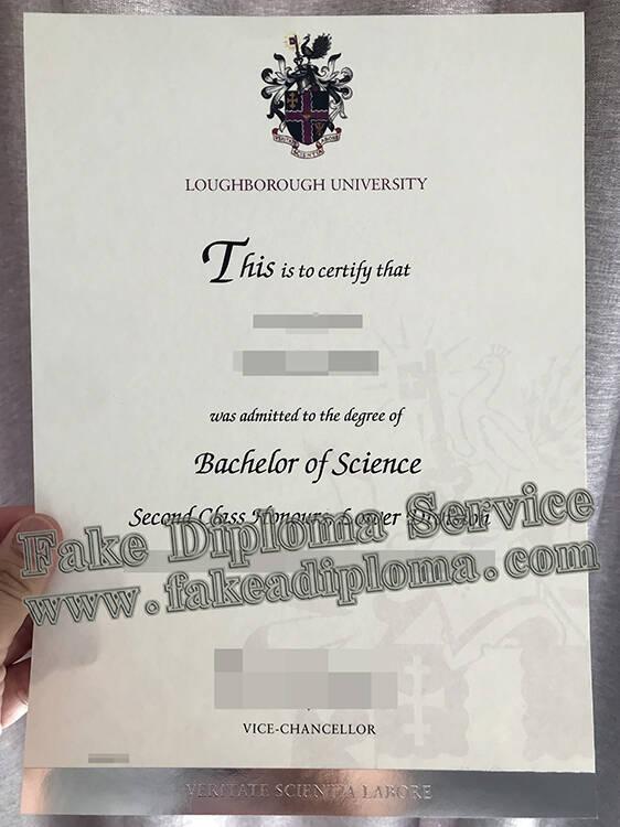 Fake Loughborough University Degree Certificate