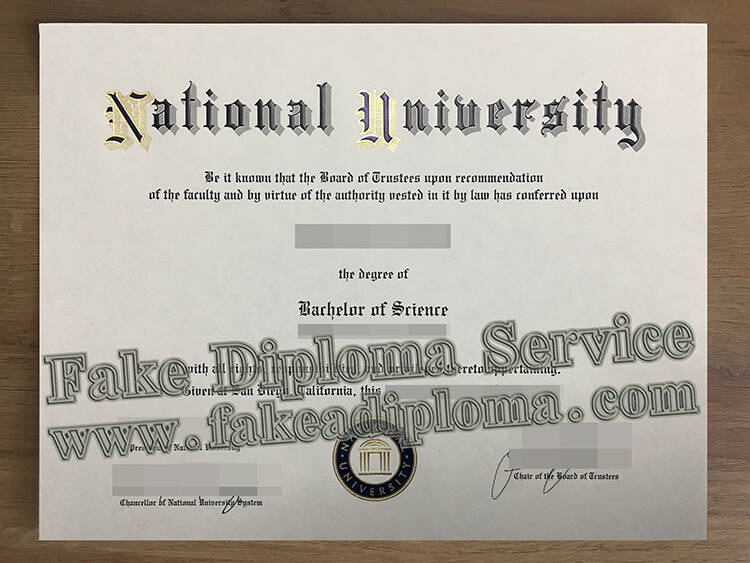 Fake National University Degree