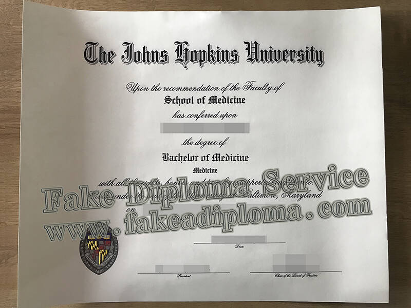 Johns Hopkins University Fake Degree