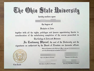 How to Apply The Ohio State University Fake Degree? Copy the Fake OSU Diploma