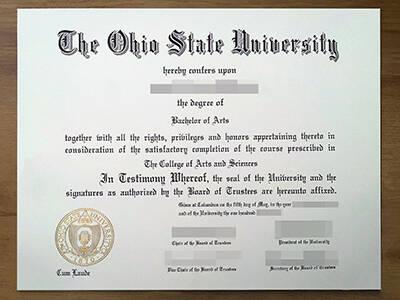 How to Apply The Ohio State University Fake Degree? Copy the Fake OSU Diploma