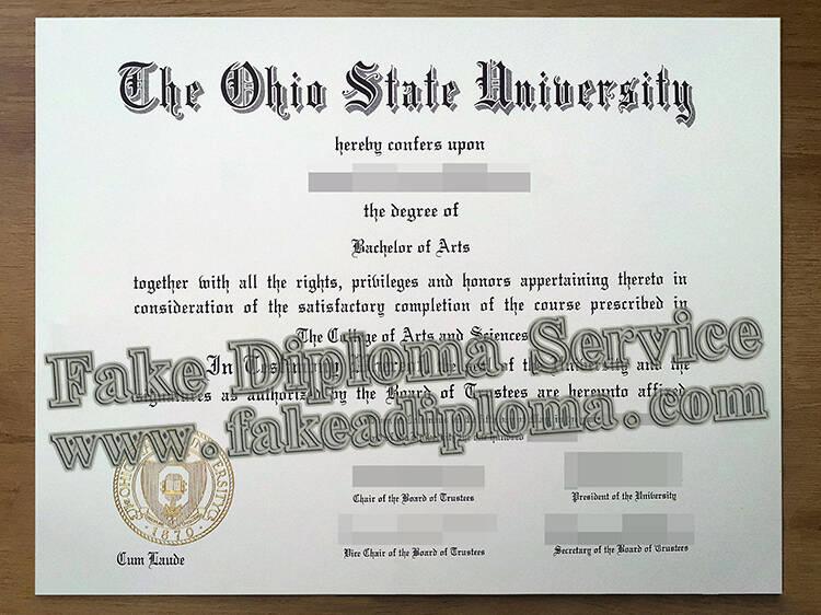 buy The Ohio State University fake degree