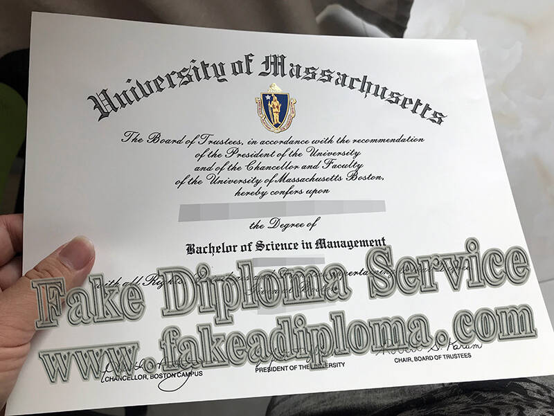 Fake University of Massachusetts degree, fake UMASS diploma.