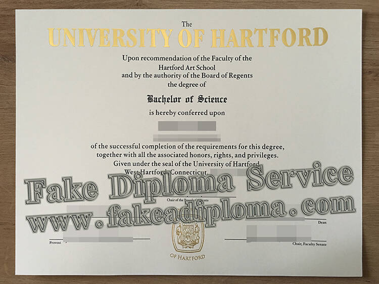 Fake University of Hartford Degree