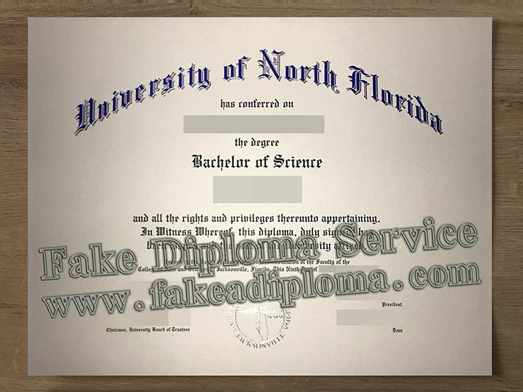 Copy A Fake University of North Florida Degree Certificate Online, Printing Fake UNF Diploma