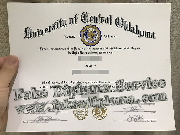 Fake University of Oklahoma Degree