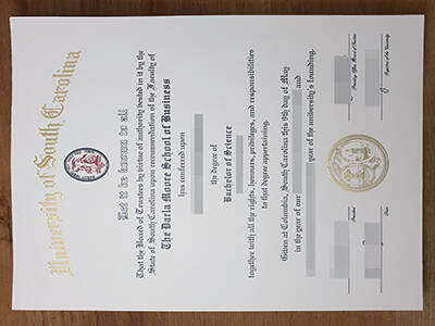 Copy A Fake University of South Carolina Diploma In A Week