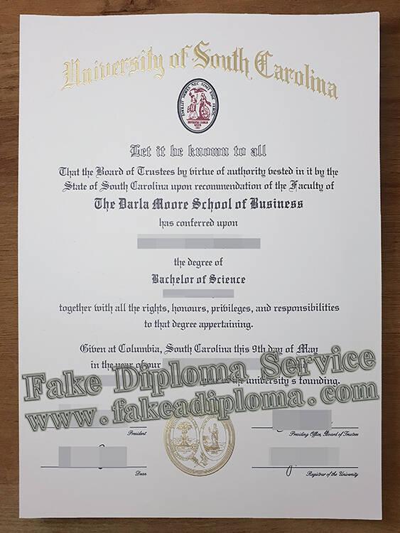 Fake University of South Carolina Diploma