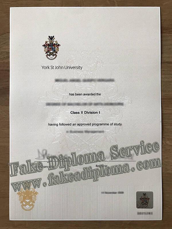 Fake York St John University Degree