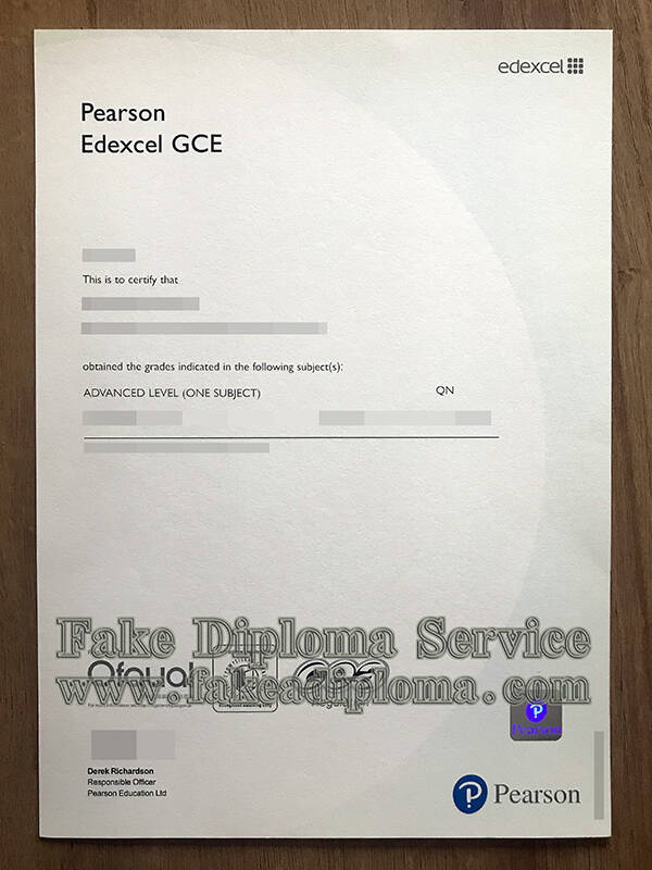 Fake GCE Certificate