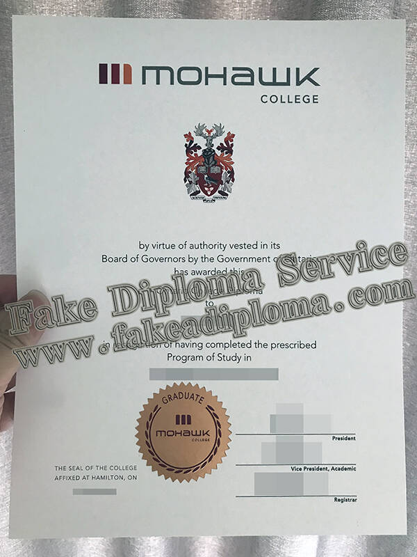 How buy fake Mohawk College certificate