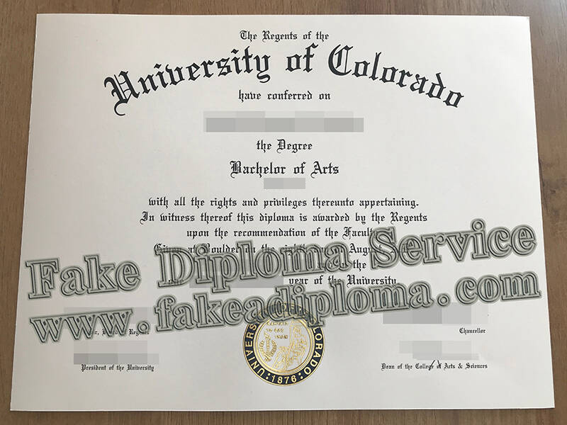 Fake University of Colorado Diploma