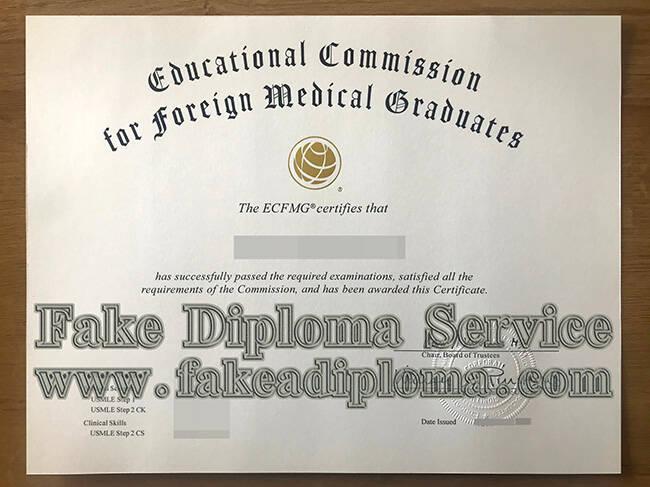 Fake ECFMG Certificate