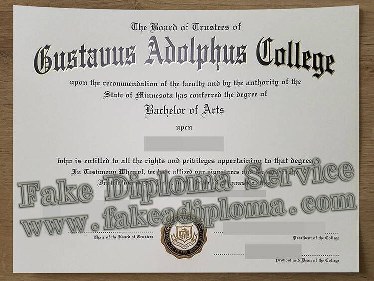 Fake Gustavus Adolphus College Degree
