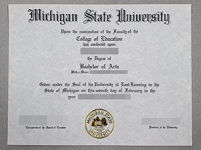 How to Copy A Fake Michigan State University Diploma Online?
