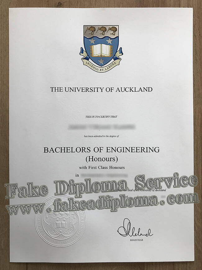 The University of Auckland Fake Degree