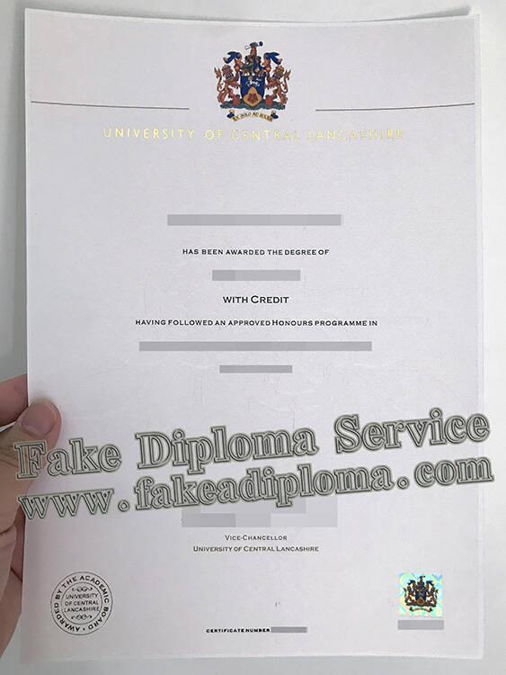 University of Central Lancashire Fake Diploma