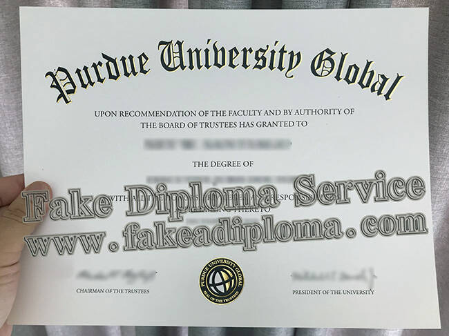 Buy Fake Purdue University Global Diploma Online