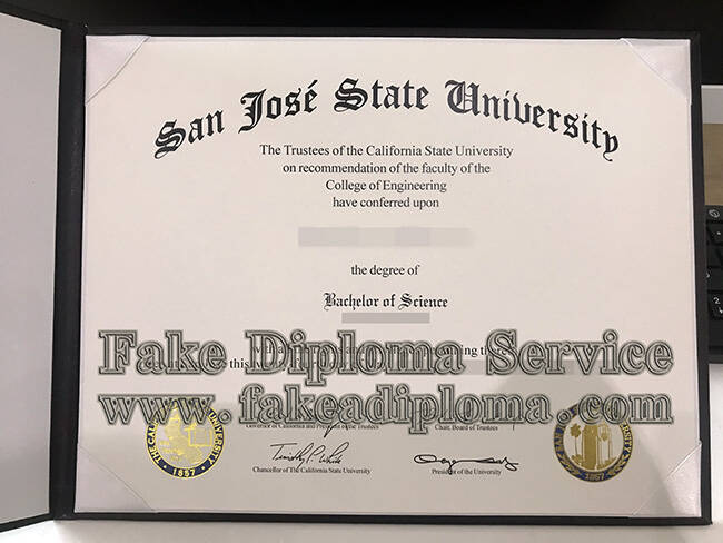 Recopying Fake San Jose State University Diploma