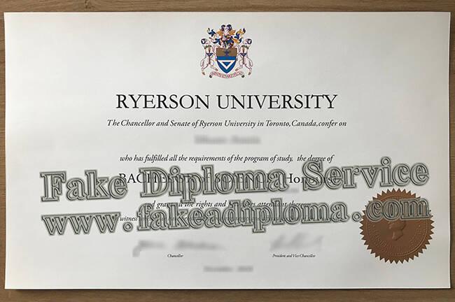 Buy Fake RU Diploma, Fake Ryerson University Degree