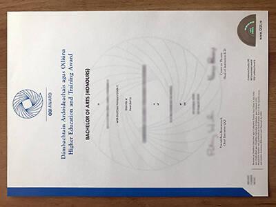 Where To Replicate A Fake QQI Award Certificate?