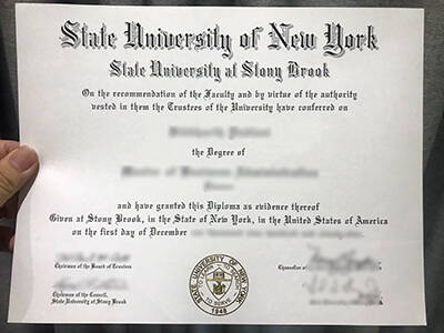 Get Fake State University of New York State University at Stong Brook Diploma