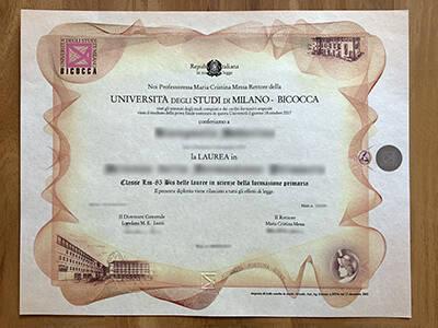 Copy A Fake University of Milano-Bicocca Diploma, Finto Diploma Universita Degli Studi di Milano-Bicocca