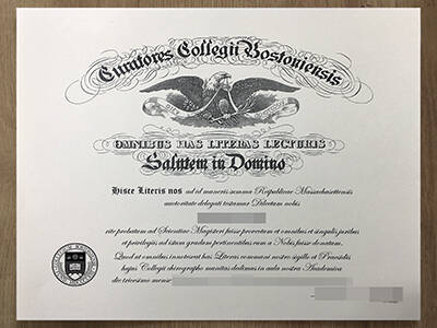 Copy A Boston College Fake Diploma Online