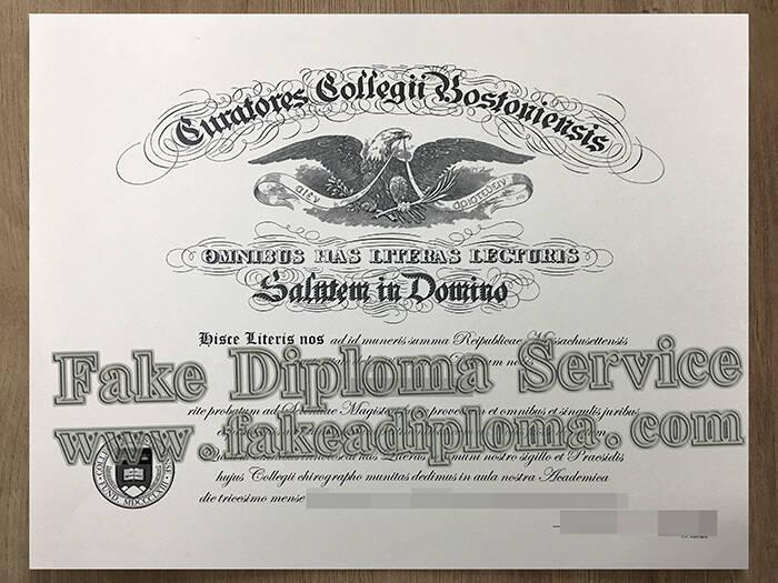 Copy A Boston College Fake Diploma Online