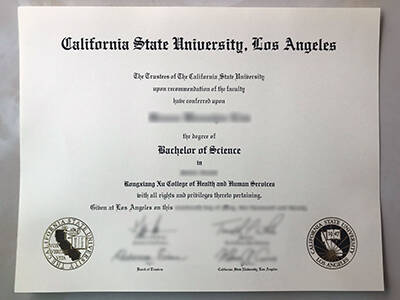 Copy California State University Los Angeles Fake Diploma